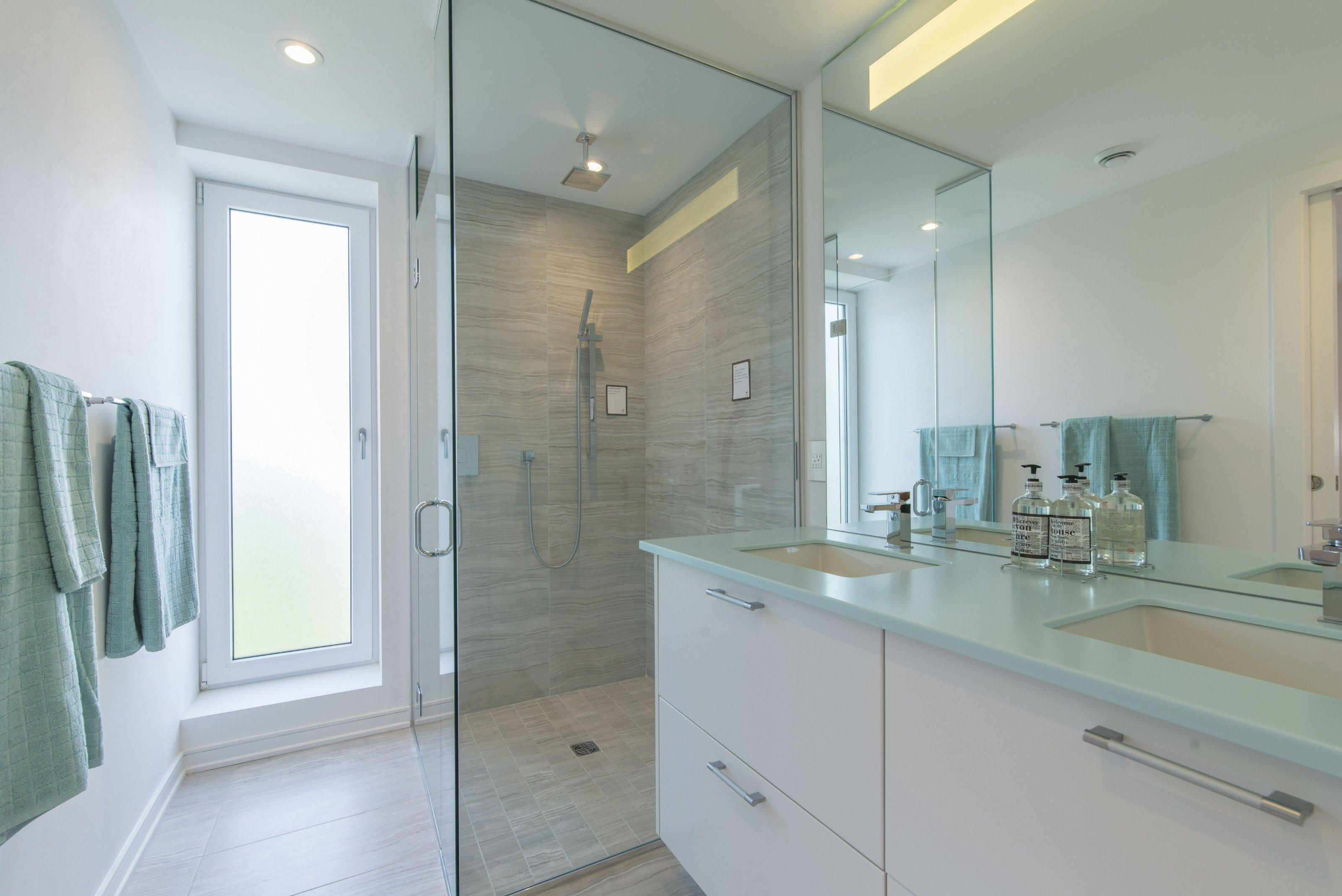 The spa-like oasis of a bathroom.